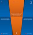 orange blue design template vector image vector image