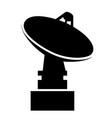 parabolic antenna satellite silhouette vector image