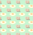 pattern of fried eggs vector image