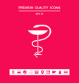 pharmacy symbol medical snake and cup graphic vector image vector image