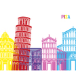 Pisa skyline pop vector image vector image