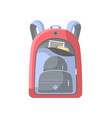 school backpack isolated icon vector image vector image