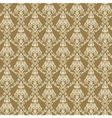 Seamless Damask Wallpaper 4 Beige Color vector image
