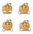 set collection pumpkin character cartoon style vector image vector image