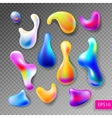 set of abstract bright colorful plasma drops vector image vector image
