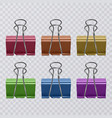 set of colorful realistic document clips isolated vector image