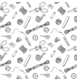 Sewing hand drawn pattern vector image vector image