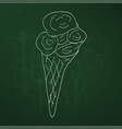 sketch - ice cream cone vector image vector image