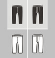 sport shorts vector image vector image