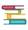 stack books icon education and library vector image