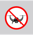 stop airdrone allowed sign photo and video air vector image vector image