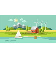 Summer landscape house on the nature vector image vector image