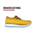 Technical of a shoes sectional vector image vector image