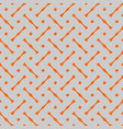 tile pattern with grey and orange background vector image vector image