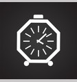 time icon on black background for graphic and web vector image