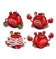 trapped fancy monster in the form of a crab vector image vector image