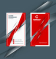 vertical double-sided red and black business card vector image vector image
