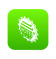 vote emblem icon green vector image vector image