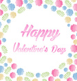 Watercolor Happy Valentines Day Lettering vector image