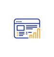web report line icon column graph sign vector image