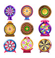 wheel of fortune casino roulette icons vector image vector image