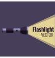 Flashlight icon on night background isolated vector image