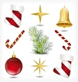 Set of Christmas items vector image