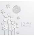 modern 12 may mothers day background vector image