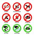 Park signs - Set I vector image