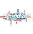 IT security WordCloud vector image