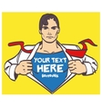 Super hero nice drawing male businessman pop art vector image