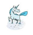 unicorn cartoon hand drawn image vector image