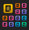Document icon set gummy theme vector | Price: 1 Credit (USD $1)