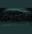3d abstract topographic map neon light lines back vector image vector image