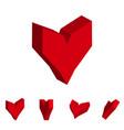 3d hearts vector image vector image