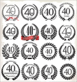 40 years anniversary laurel wreaths vector image vector image