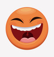 april fools day emoticon laughing vector image vector image