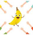banana character vector image vector image
