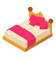 bed icon isometric style vector image vector image