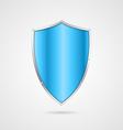 Blue shield icon vector image