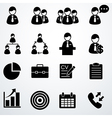 business icons set black vector image vector image