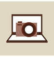 camera photo technology computer laptop vector image