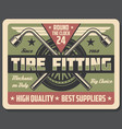 car repair service tire fitting vector image vector image
