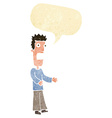 cartoon man freaking out with speech bubble vector image vector image