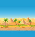 cartoon nature sand desert game style vector image vector image