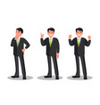 character a businessman businessman vector image