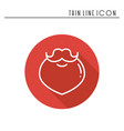 christmas santa claus beard thin line icon new vector image