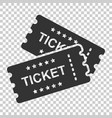 cinema ticket icon in flat style admit one coupon vector image vector image