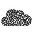 cloud collage of filled rhombus icons vector image vector image