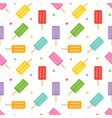 Colorful ice cream and dots seamless pattern